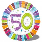 Folienballon 50. Geburtstag - Ohne Helium