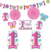 Deko-Set zum 1. Birthday - Girl