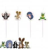 4 Mini-Figurenkerzen Der kleine Maulwurf
