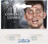 3-teiliges Kontaktlinsen-Set in Weiß