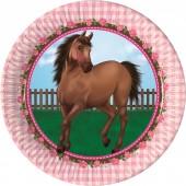 8 Teller Pferde