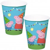 8 Becher Peppa Pig