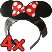 4 Diademe Minnie Mouse