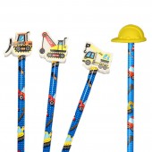 4 Bleistifte mit Radiergummi - Baustelle
