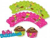 12 Cupcake Deko-Banderolen Bibi Blocksberg
