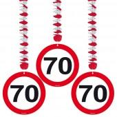 3 Dekospiralen 70. Geburtstag