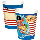 8 Becher Capt'n Sharky