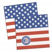 20 Servietten Amerika/USA