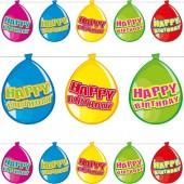 Wimpelkette Happy Birthday im Luftballon-Design