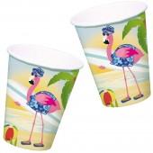 8 Becher Flamingo