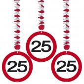 3 Dekospiralen 25. Geburtstag