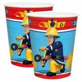 8 Becher Feuerwehrmann Sam