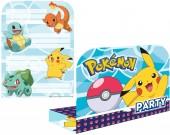 8 Einladungskarten Pokémon