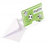 8 Einladungskarten Stadion