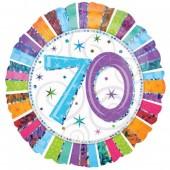 Folienballon Happy Birthday - 70. Geburtstag