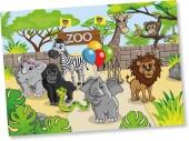 6 Platzsets Zoo & Zootiere