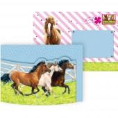 8 Einladungen + Umschläge Pferdefreunde