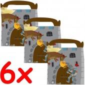 6 Geschenkboxen Ritter & Drache