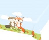 105-teiliges Set: Fuchs und Biber