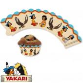 12 Cupcake Deko-Banderolen Indianer Yakari