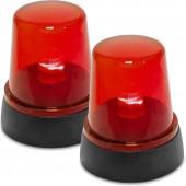Feuerwehr-Warnlicht in Rot