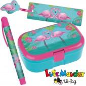 3-teiliges Schulstart-Set Flamingo