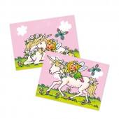 Wackelbild und Postkarte Einhorn