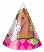 6 Partyhütchen Pferde