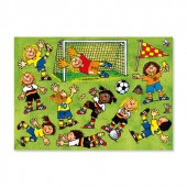Fensterbild DIN A4 Fussball Mädchen