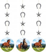 3x Hängedekoration Pferde und Pony