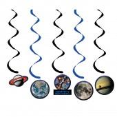 5x Hängedekoration Weltraum - Space Blast