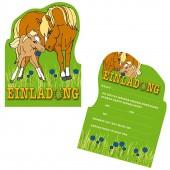 6 Einladungskarten Pferde