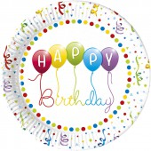 8 Teller Happy Birthday Streamers