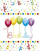 6 Partytüten Happy Birthday