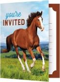 8 Einladungskarten Pferde & Pony