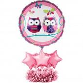 Tischaufsteller mit Ballons Trendy Eule