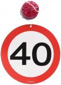3 Dekospiralen 40. Geburtstag
