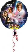 Singender Folienballon Star Wars - Ohne Helium