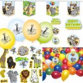 102-teiliges Deko-Set: Zoo & Zootiere