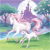 16 Servietten Fantasy Einhorn
