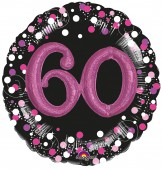 XXL Folienballon 60. Geburtstag - Sparkling Pink