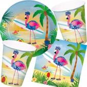 37-teiliges Spar-Set: Flamingo