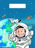 8 Partytüten Astronaut Flo