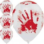 6 Luftballons Blutige Hand