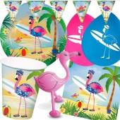 98-teiliges Set: Flamingo