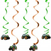 5x Hängedekoration Traktor