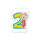 Zahlenkerze mit Zahl 2 Winnie the Pooh