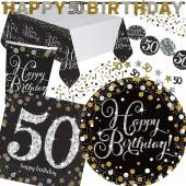 45-teiliges Party-Set: 50. Geburtstag - Sparkling Celebration