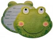 8 Einladungen + Umschläge Süßer Frosch