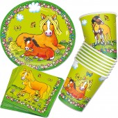 37-teiliges Kinderparty-Set Mein Ponyhof